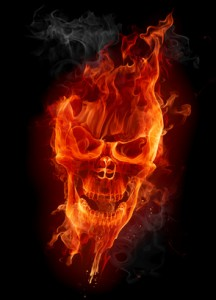 Fire skull © -Misha - fotolia.com#10920298